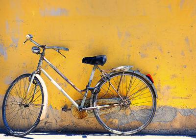 bike. Wall. Italy